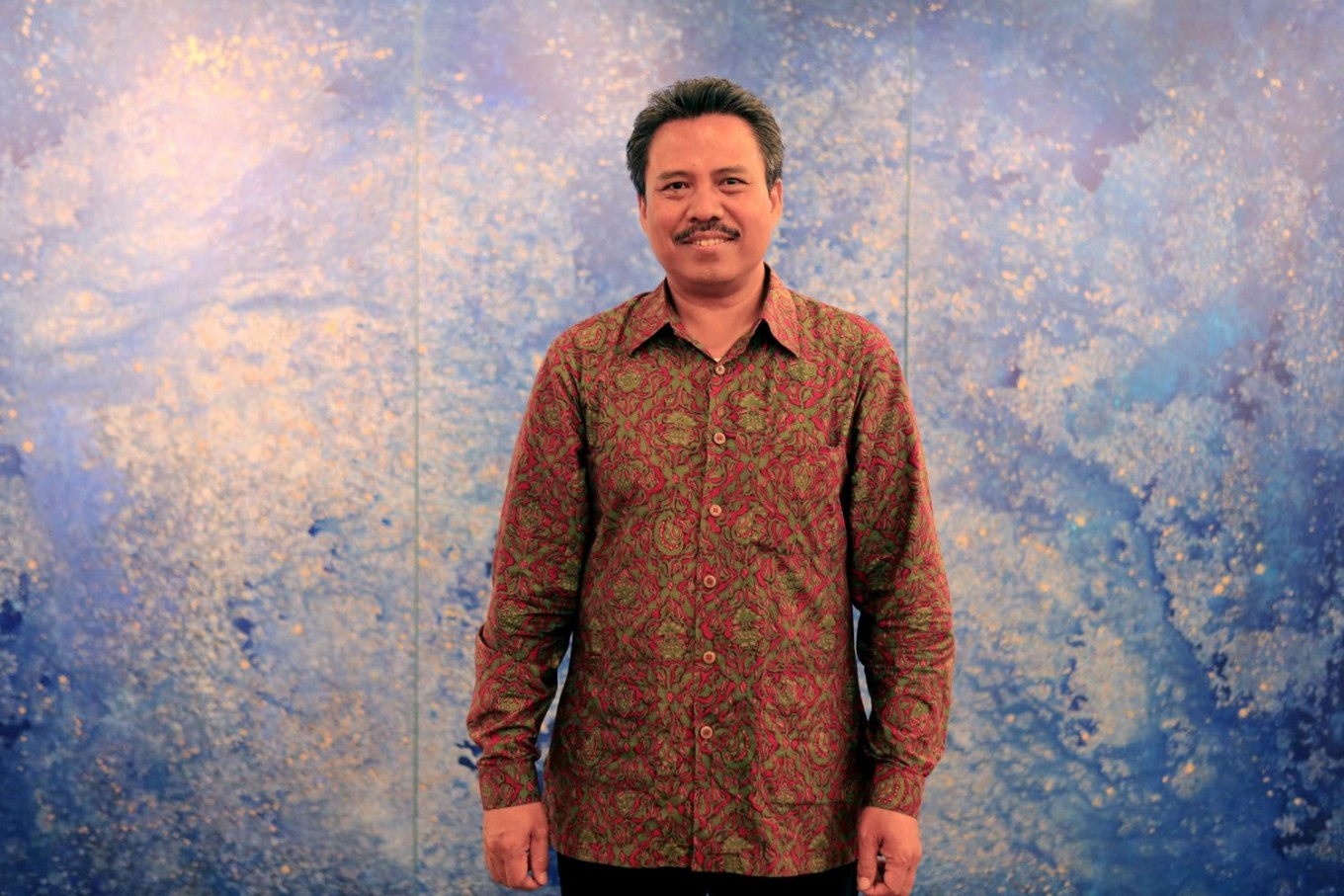 Balinese artist I Wayan Karja's abstracts works are currently on display in an exhibition titled 'Cosmic Energy', held at the Center for Strategic and International Studies (CSIS) in Central Jakarta until Aug. 12.