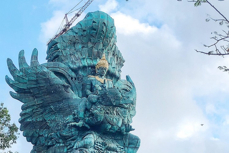 Majestic: The Garuda Wisnu Kencana stands majestically atop a pedestal that will house a museum and other tourist facilities.