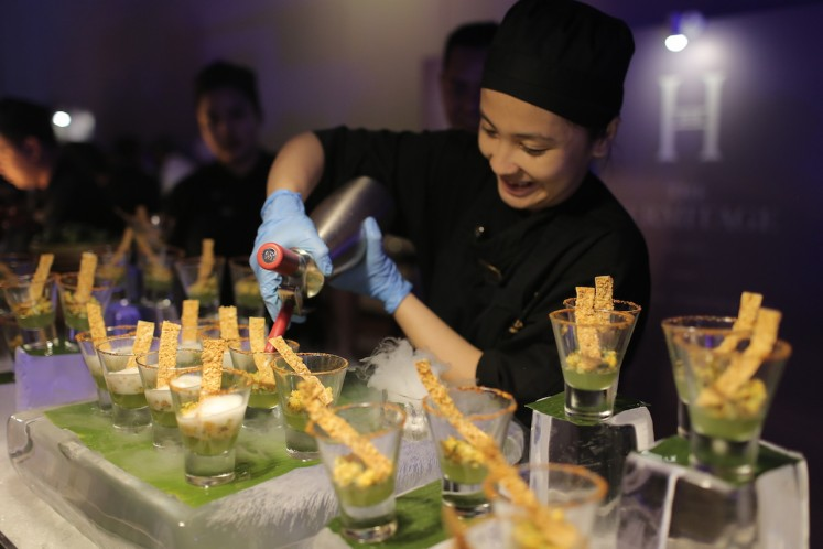 The launch party of new Club Marriott features an array of food and beverages from four Marriott International properties in Jakarta namely The Westin Jakarta, Sheraton Grand Jakarta Gandaria City Hotel, Le Meridien Jakarta and The Hermitage Jakarta.