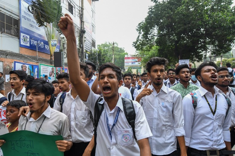 Bangladesh PM urges teen protesters to go home amid violence