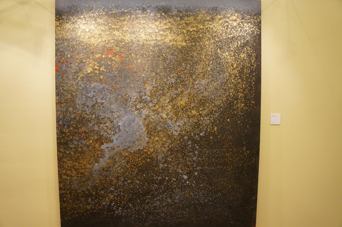 With the cosmos long being a subject of fascination, Karja gives his interpretation in the painting titled Night Sky (Big Bang), which was created in 2012.