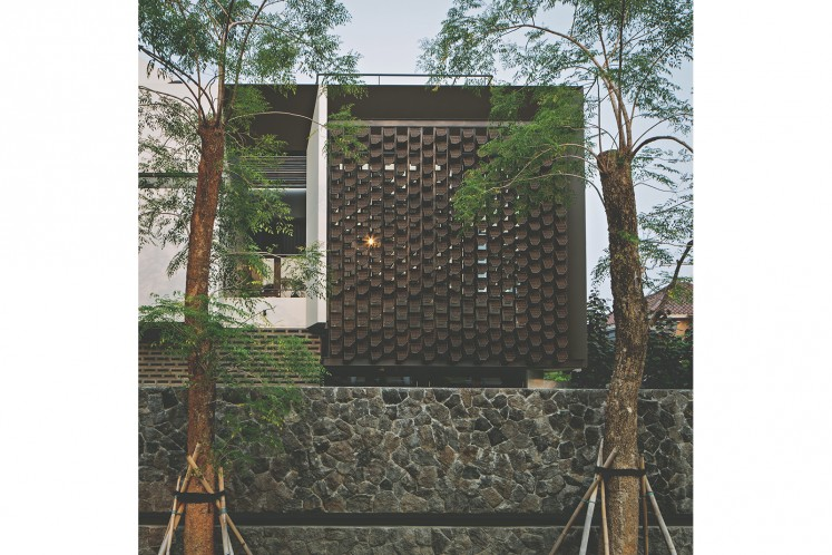 An example of Masulin Lim's architectural weaving solutions.