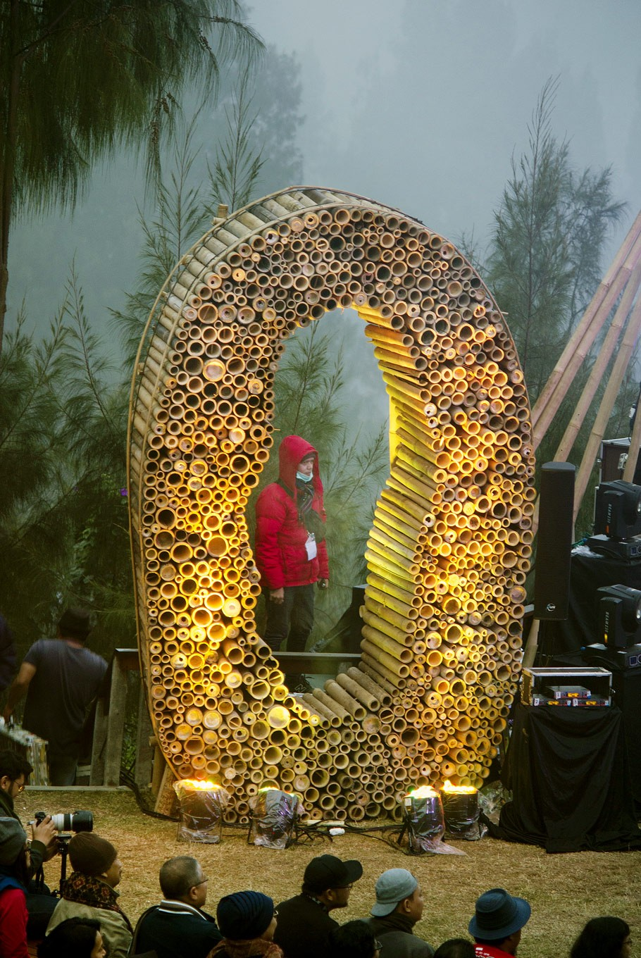 Into details: A bamboo installation was one of the festival's signature stage decorations.