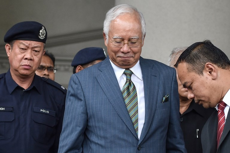 Najib appears in court to face money laundering charges
