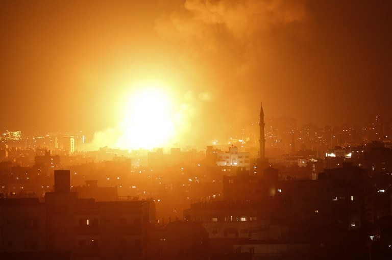 Wave of Israeli strikes hit Gaza after rocket barrage, toddler killed