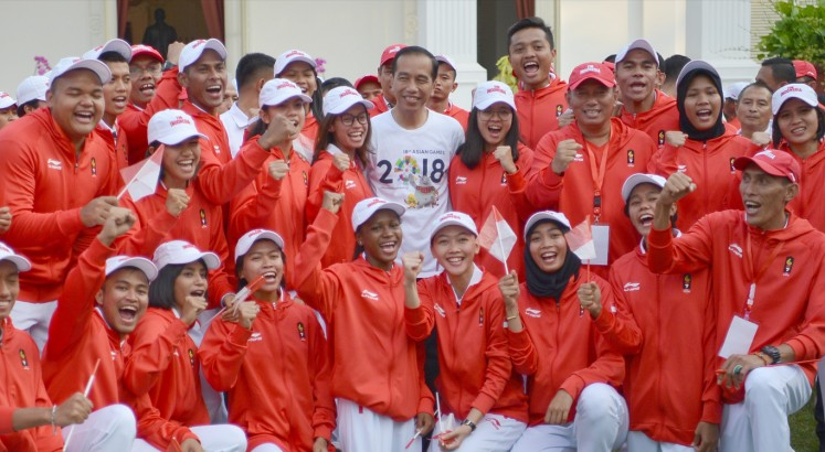 Jokowi: Good luck, Team Indonesia
