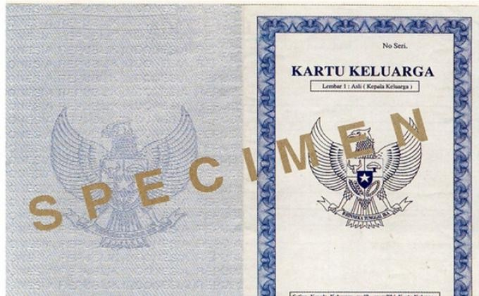 New family cards to be issued in Jakarta in 2019
