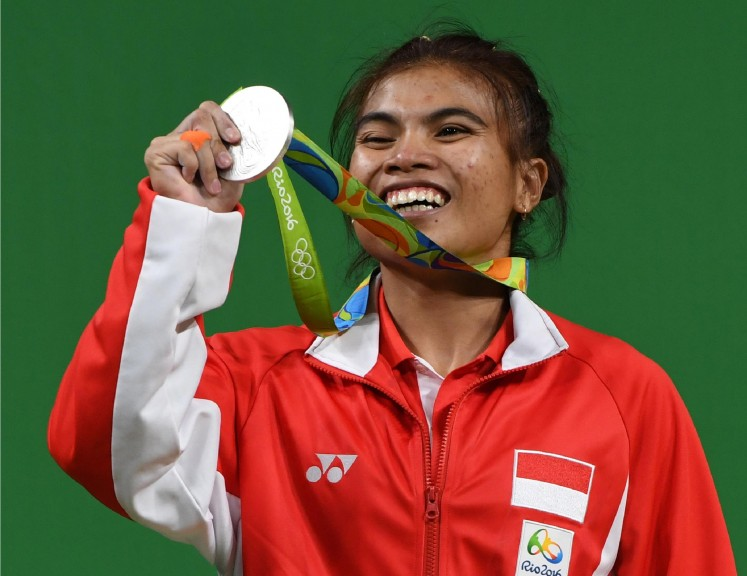 Sri Wahyuni Agustiani lifted 192 kilograms in total at the Rio Olympics, an improvement over the 187 kg she lifted at the Incheon Asian Games.