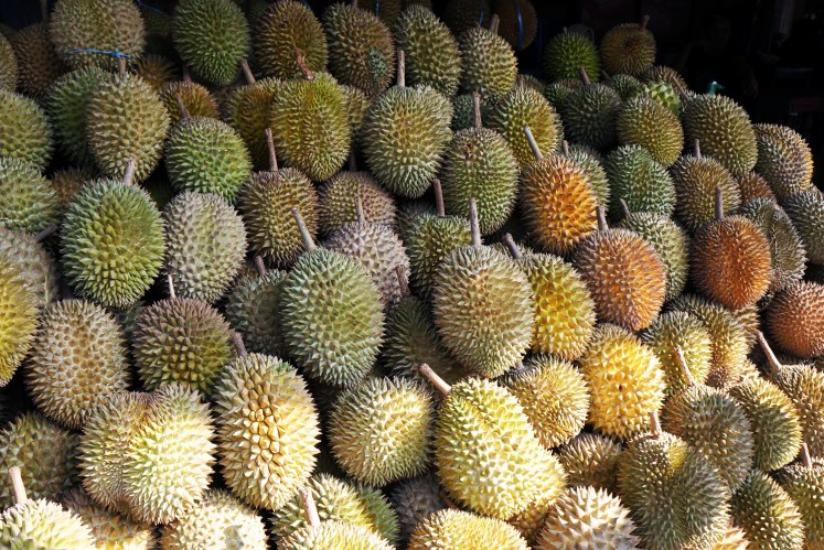 Durian season usually starts in June.