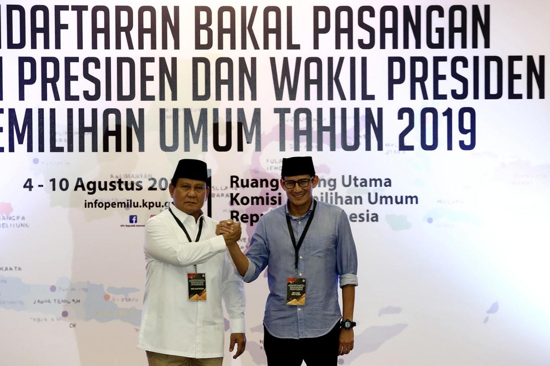 Prabowo, Sandiaga officially register for presidential race