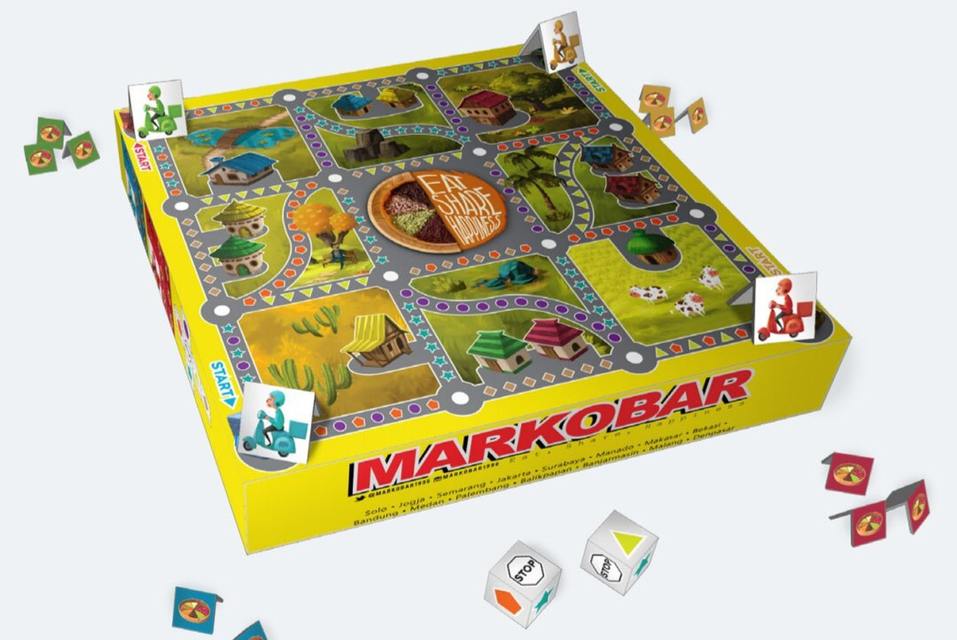 Markobar welcomes Independence Day with board game packaging