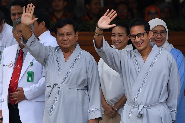 2019 hopefuls Prabowo, Sandiaga start health checks