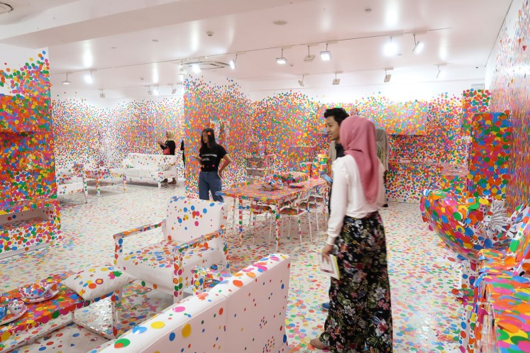 The Obliteration Room is part of the Yayoi Kusama's solo exhibition held at the Museum Macan until Sept. 9.