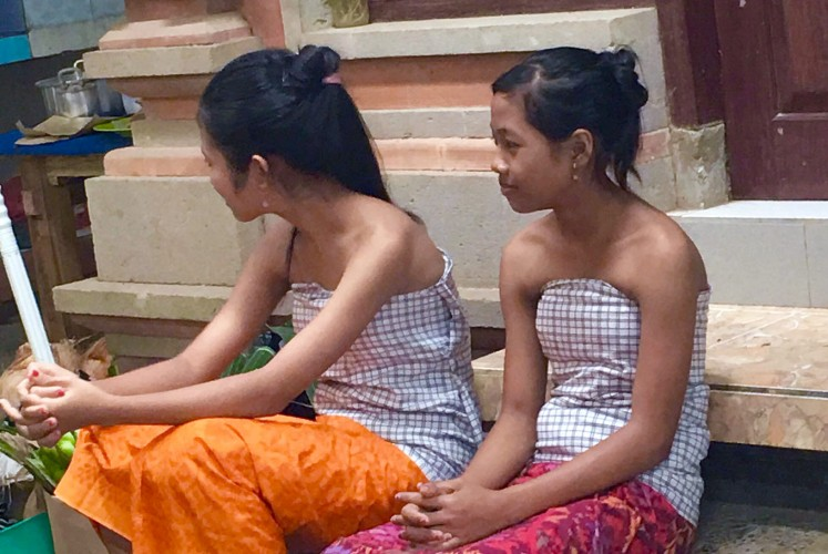 Coming of age: According to one resident, the reason there were only two girls this year was because contraception had been working well in Tenganan village.