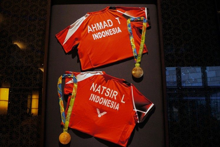 The exhibition displays memorabilia from legendary athletes, such as doubles pair Tontowi Ahmad and Liliyana Natsir, badminton player Tan Joe Hok and more.