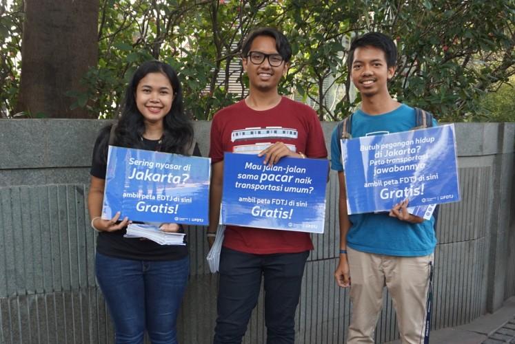 FDTJ members: Dewi (left), Adriansyah Yasin (center) and Fagra Hanif (right).
