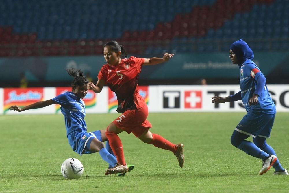 Asian Games: Indonesia beats Maldives 6-0 in women's soccer preliminary