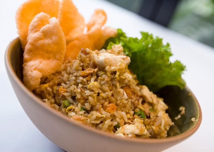 Plataran's 'nasi goreng kecombrang' (fried rice with ginger)