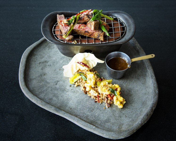 Sweet and spicy fried beef rice cooked with fermented soybean and corn fritters can be enjoyed at The Westin Jakarta.