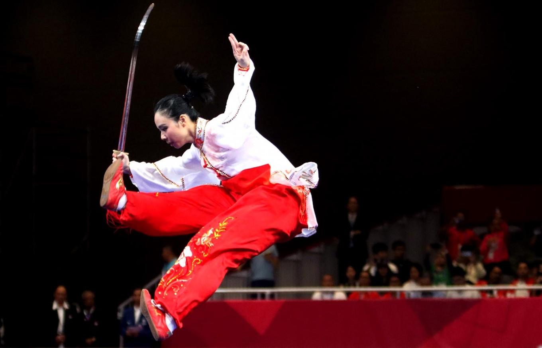 Indonesian Wushu champion thanks Chinese coach