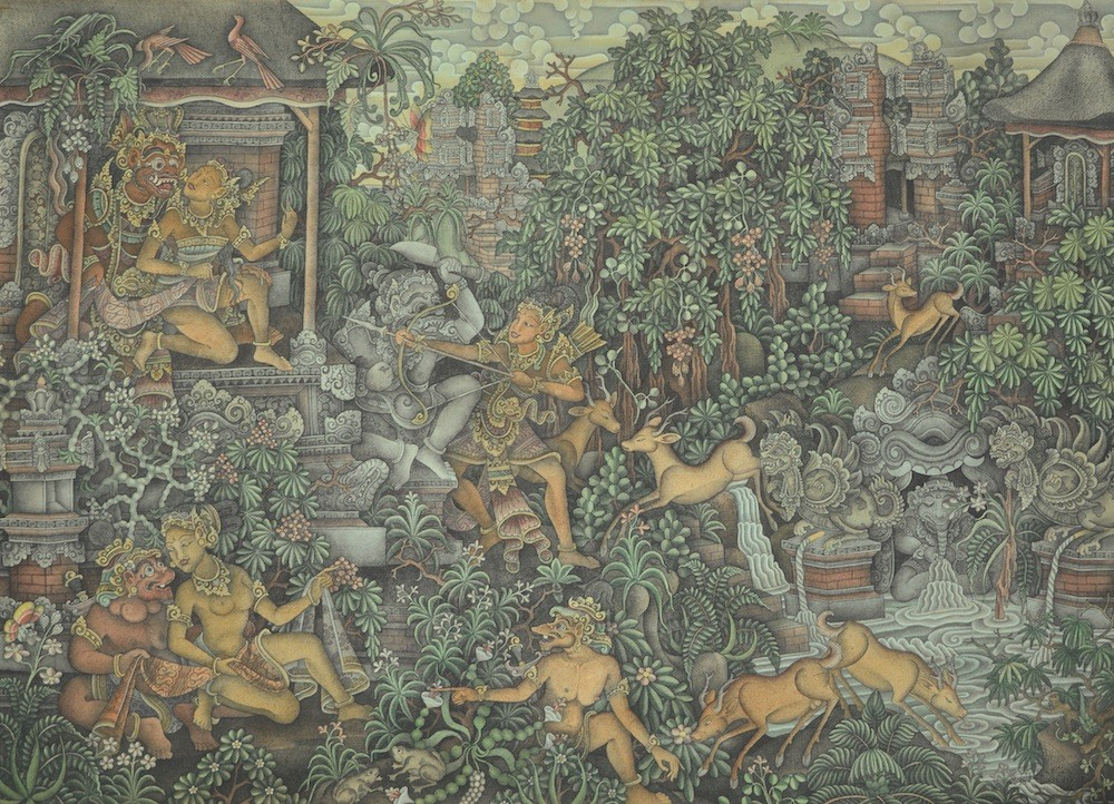 'Ramayana Membebaskan Dewi Sita' by Wayan Radjin
