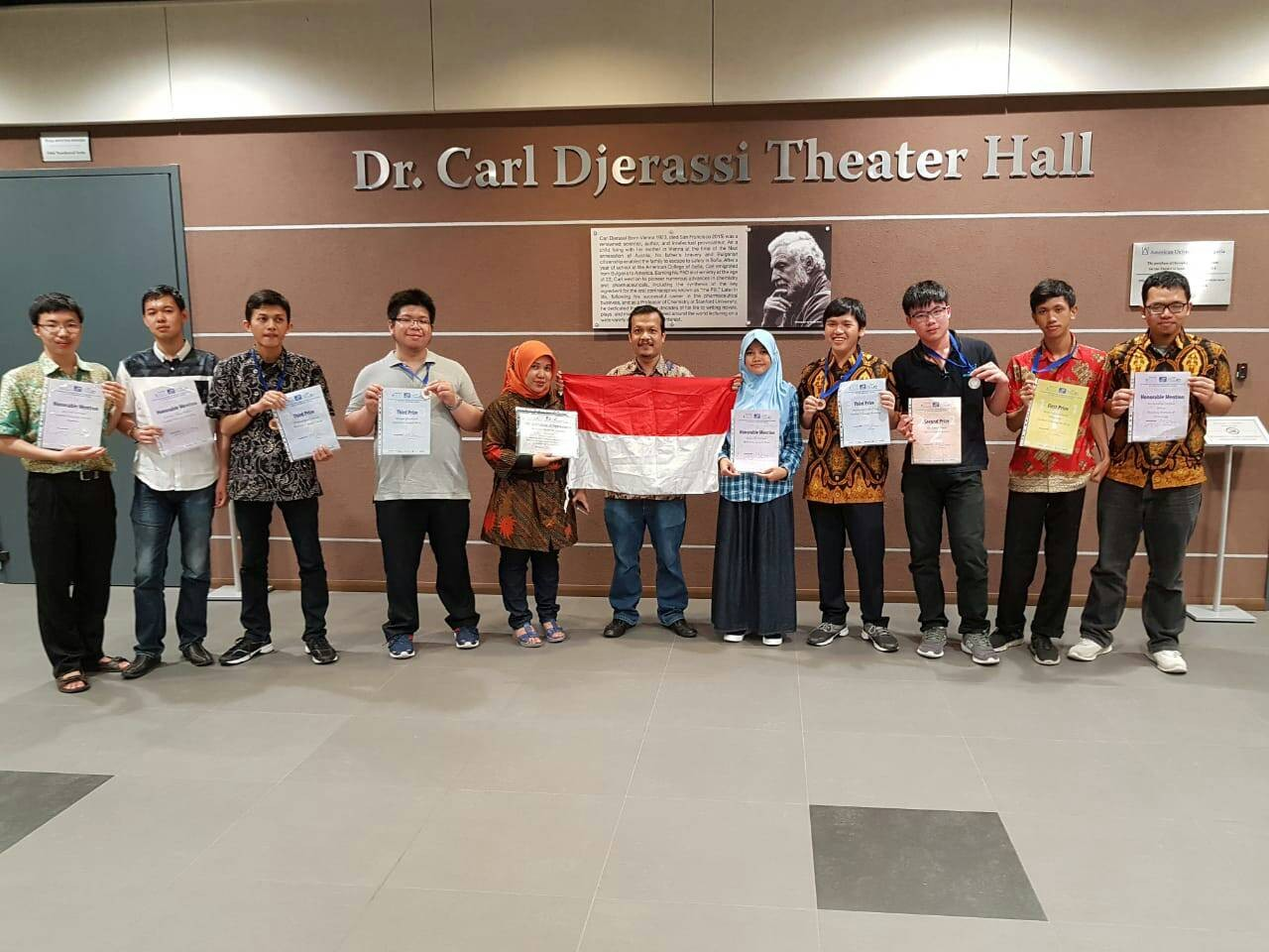 Indonesian students at the 2018 International Mathematics Competition for University Students, held from Jul. 22 to 28 in Blagoevgrad, Bulgaria. (ITS/-)