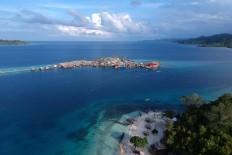 Sea nomads: The village of the Bajo tribe on Papan Island. JP/ Jerry Adiguna