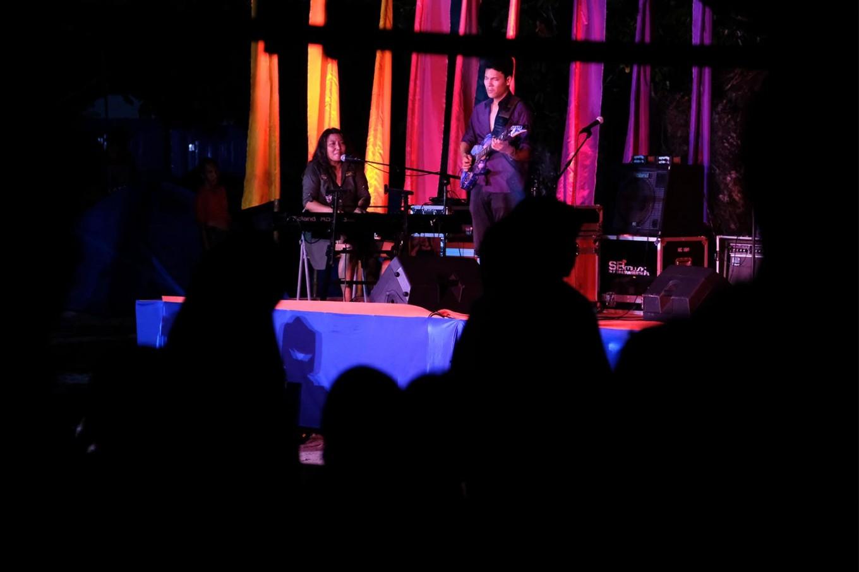 Jazz night: Singer Nita Arsen performs on the festival's opening night. JP/ Jerry Adiguna