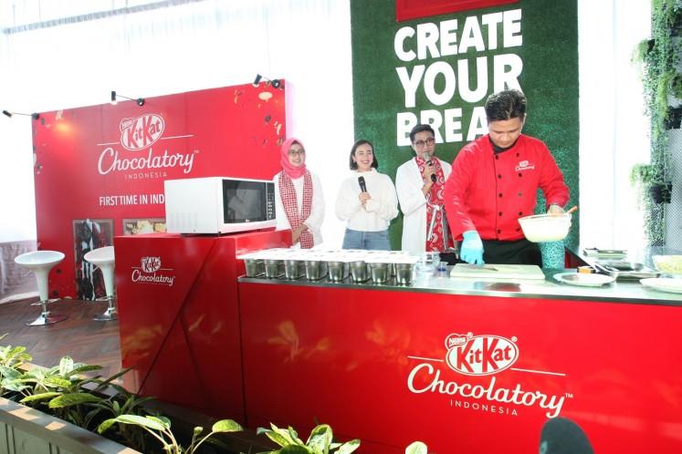 KitKat Chocolatory in Kota Kasablanka mall, Jakarta