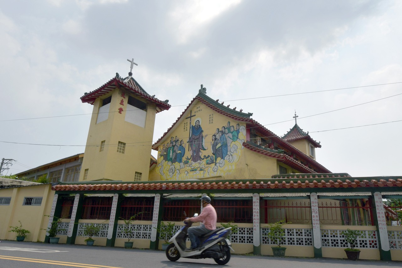 Dragons and steamed buns at Taiwan's temple-like church