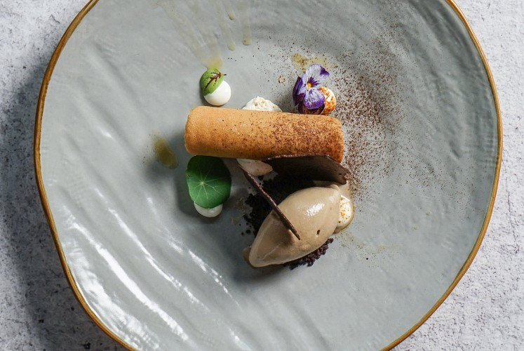 One of the desserts at 71st Omakase, Just Pick Me Up!, it has a different texture and a refreshing smell of espresso.