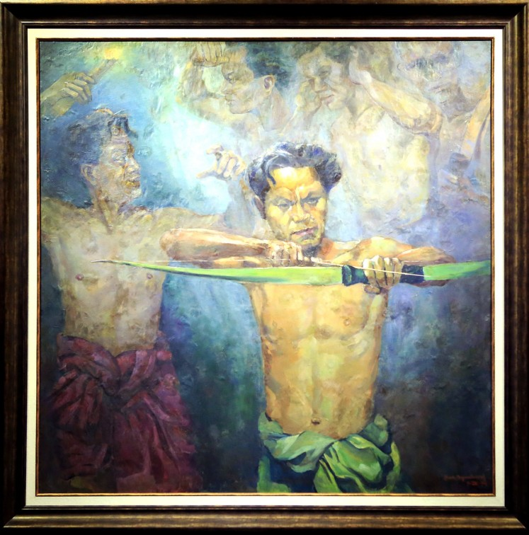 Vital spirit: Archery is a central theme in many of the artworks in the presidential collection as former president Sukarno found the archer's spirit to fit with the Indonesian spirit.
