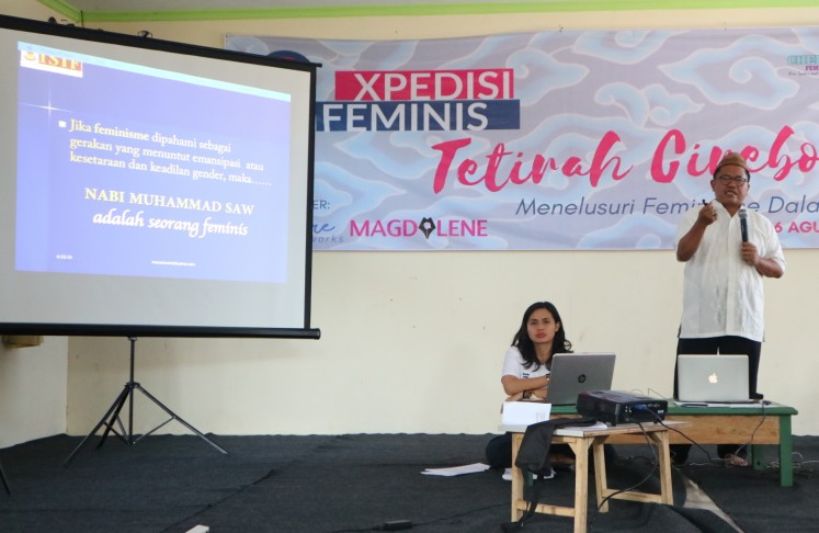 A discussion of feminism in Islam with KH Marzuki Wahid.