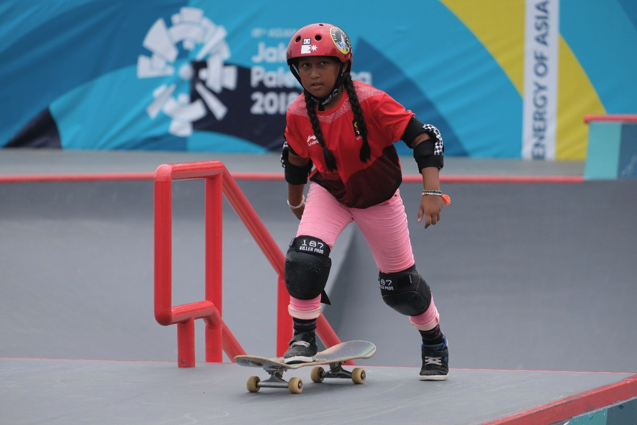 Asian Games: Youngest skateboarder Aliqqa considers Asiad as stepping stone