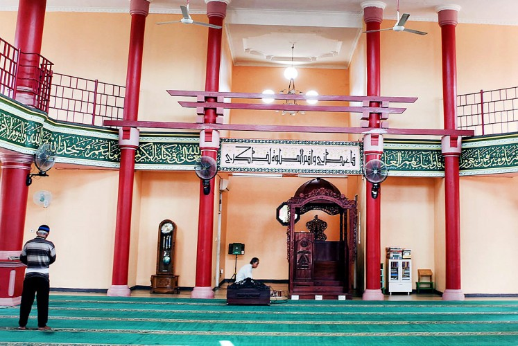 Cool and calm: Muhammad Cheng Hoo Mosque's main prayer room evokes a sense of tranquility in its visitors.
