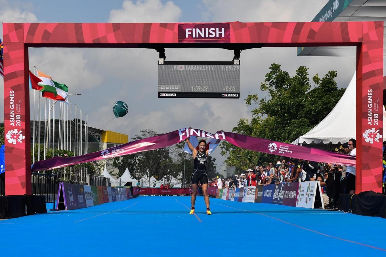 Asian Games: Japan wins women's triathlon gold medal
