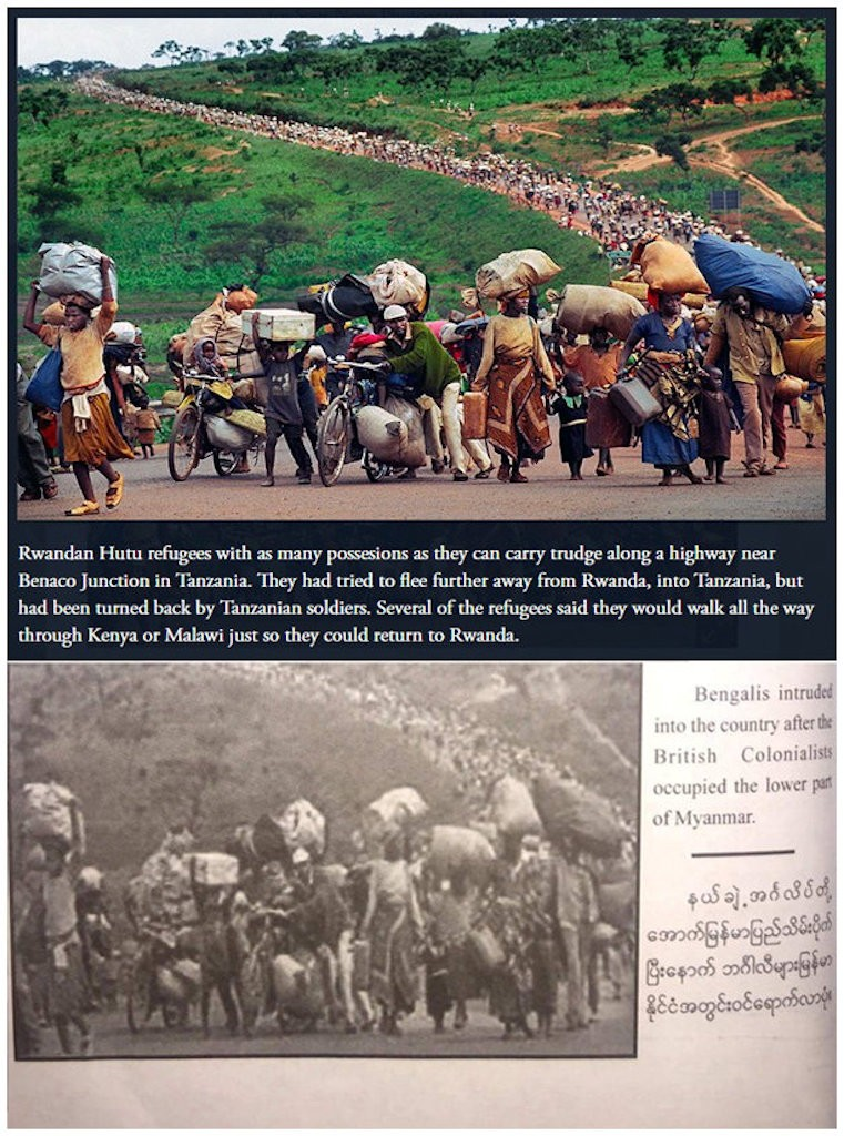 Image result for Fake Photos in Myanmar Army's 'True News' Book