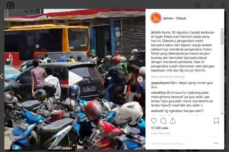 Police drop charges against alleged hit and run motorist in West Jakarta