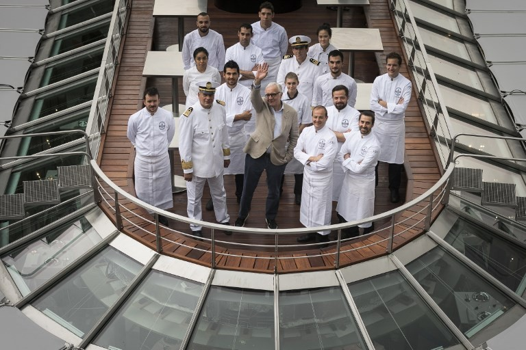 Boat cuisine: Superchef Ducasse takes to the water