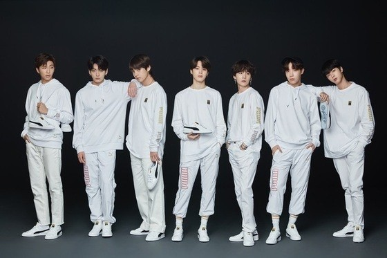 Puma teams up with BTS for new Basket silhouette