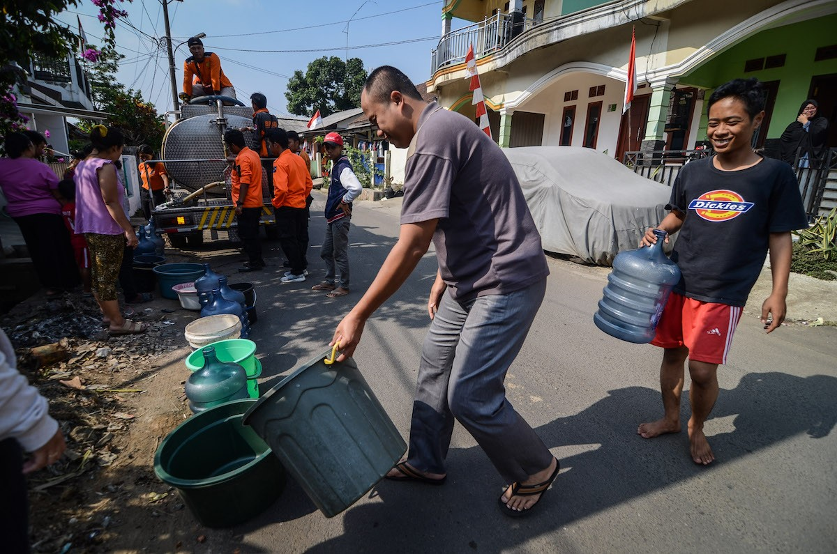 Wells dry up as drought hits North Jakarta