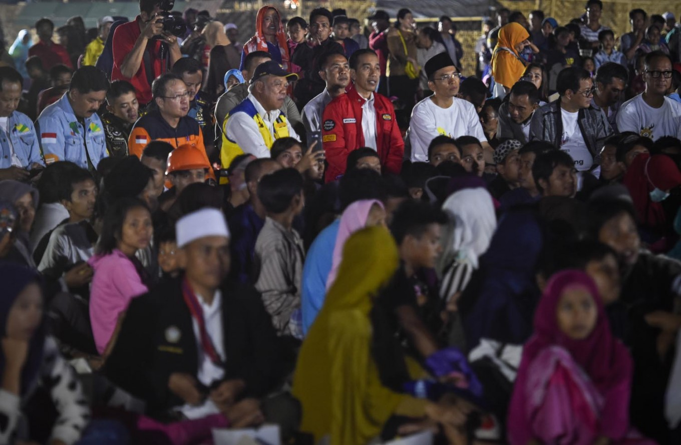 All hands on deck to reconstruct Lombok: Jokowi
