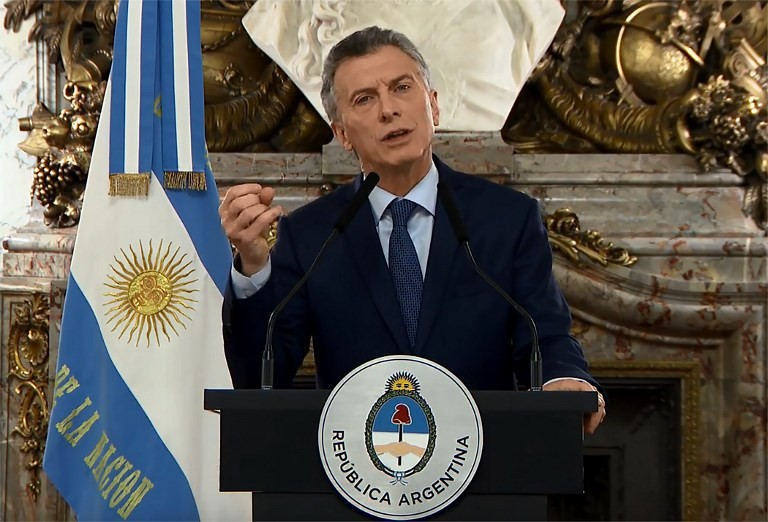 Argentina's president announces new austerity measures