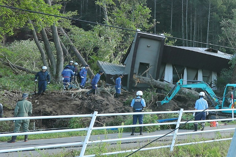 Landslides after powerful 6.6 magnitude quake hits Japan's Hokkaido