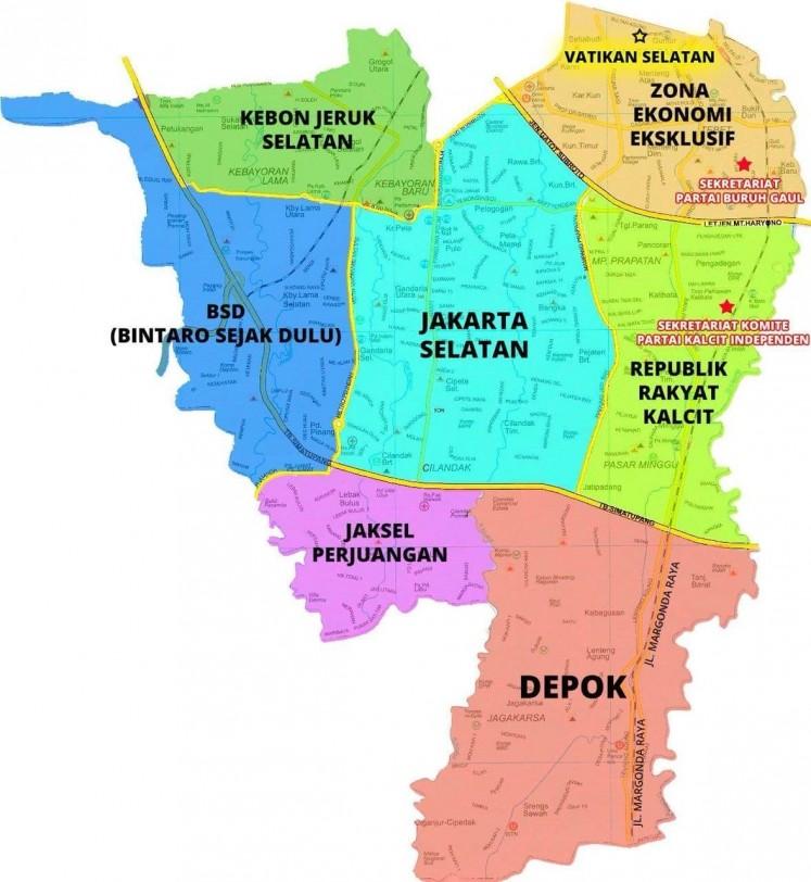 Map Jakarta.Anak Jaksel Jokes Inspires Map Talks On Geopolitics Of Lifestyle