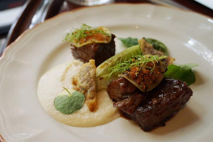 The tender and juicy 48-hour Angus beef short rib.