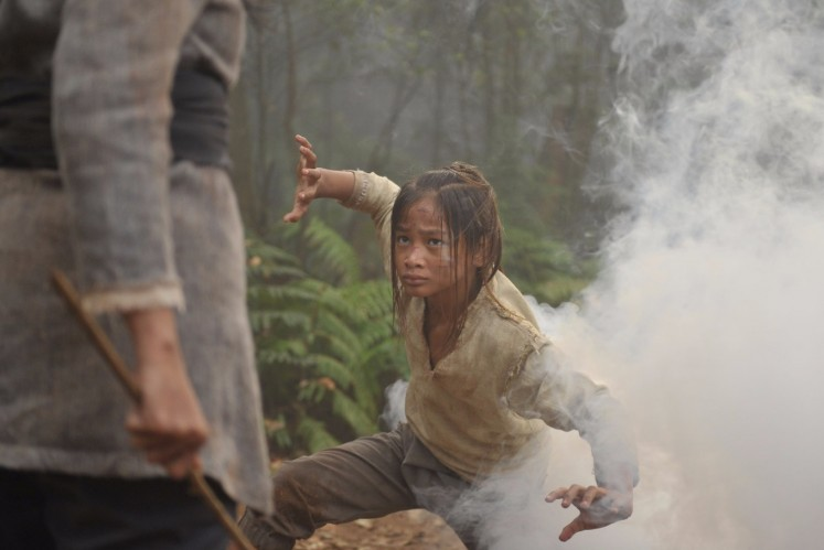 Having learned martial art since he was little, Nuh Putra Damar Alam was well equipped to slip into the role of the teenage Suranyali.