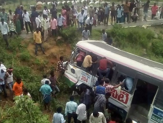 50 dead as Indian bus plunges into valley