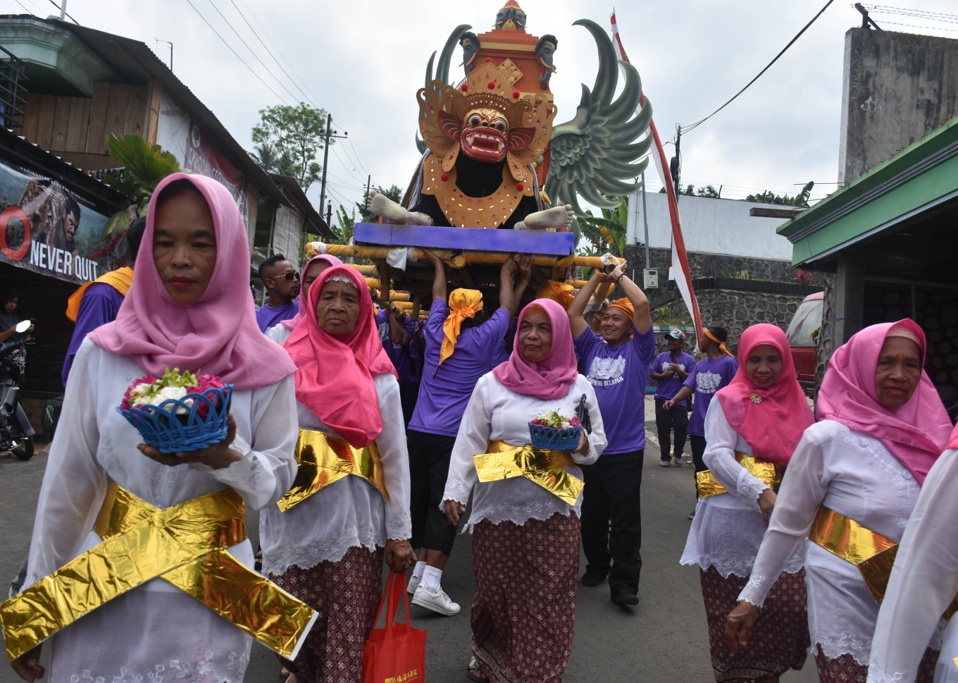 Javanese New Year parade in Malang village celebrates religious diversity