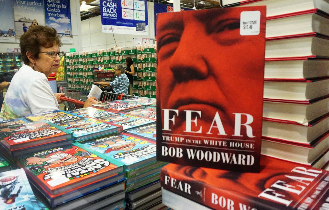 Amazon rushes to restock Woodward's book as sales boom